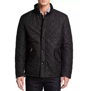 Barbour Powell Polarquilt Men's Jacket in Black XL